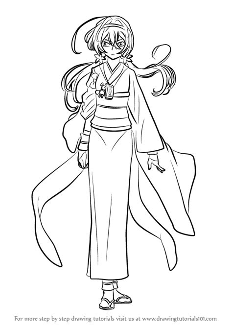 how to a stray learn how to draw kyouka izumi from bungo stray dogs bungo stray dogs step by step
