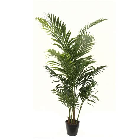 Artificial Tree For Home Decor artificial areca palm 1 4m with 16 stems and basic black pot
