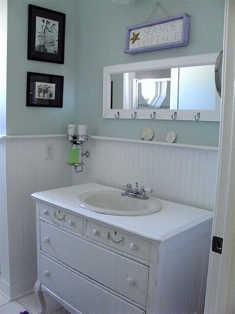 beach cottage bathroom ideas oh how i want a coastal style bathroom with wood panels
