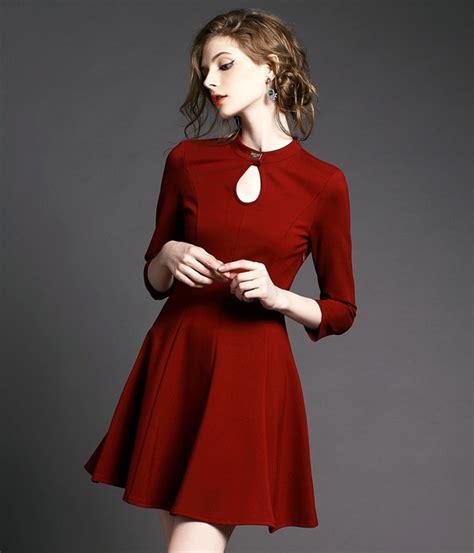 Baju Top Blouse Model Style Impor 12 lycra dress ds3944 burgundy