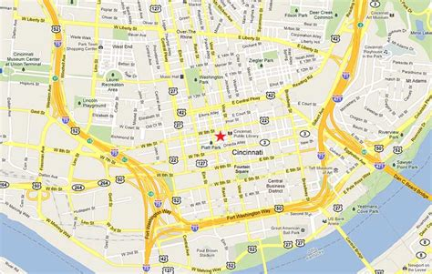 map of cincinnati downtown cincinnati map my