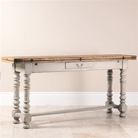 distressed wood sofa table shabby chic sofa table