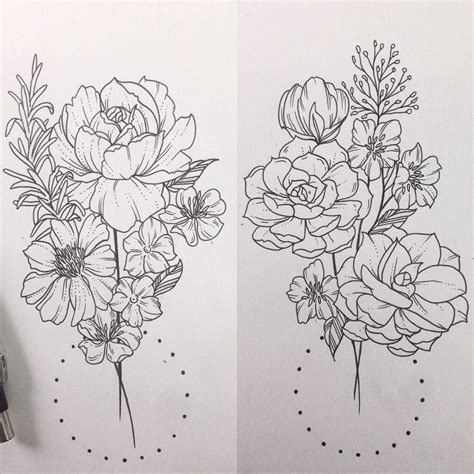 botanical tattoo designs floral botanical succulents rosemary tattoos