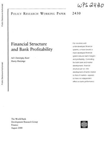 Financial Structure and Bank Profitability