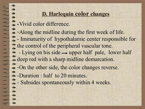 harlequin color change changes in newborn pregnancy and age