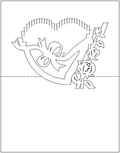Free Pop Up Card Templates Valentines by Pattern Gif Kirigami Kirigami