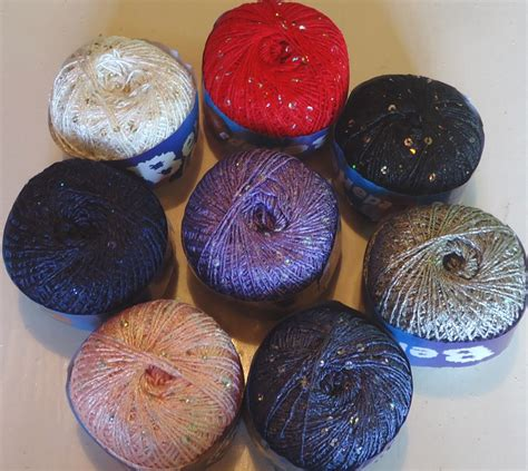 knitting wool with sequins sequined knitting yarn a pretty glittery knitting and