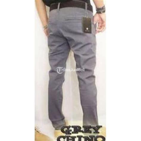 Celana Chino Abu 1 celana panjang chino pria size 27 32 warna abu abu new bahan katun elastis jawa barat