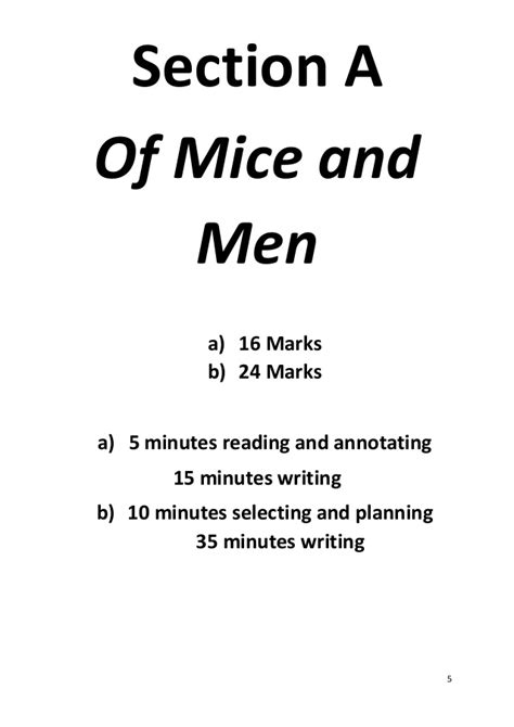 section 3 of mice and men of mice and men edexcel english language revision guide