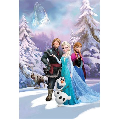 frozen wallpaper decor disney frozen anna elsa olaf sven bedroom mural wallpaper