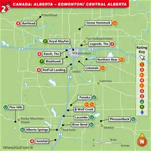 florida golf course map alberta and edmonton golf map with top golf courses and