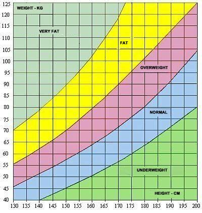 height to weight ratio chart healthinasecond