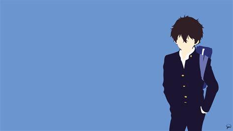 wallpaper anime minimalist oreki houtarou minimalist wallpaper 氷菓 pinterest