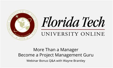 Florida Tech Mini Mba by Understanding The Roi Of Effective Project Management