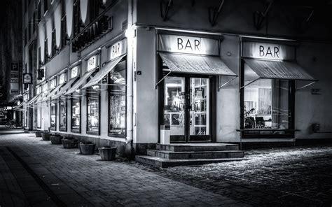 imagenes en blanco y negro en hd fondo de pantalla de bar restaurante caf 233 ciudad en