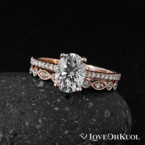 forever brilliant oval solitaire engagement ring set