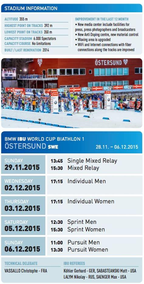 Calendrier Biathlon Biathlon 214 Stersund Le Programme Complet Ski Nordique Net