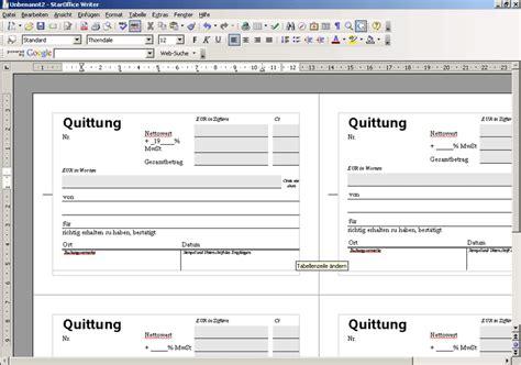 Microsoft Word Vorlage Quittung quittungs vorlage einfach und kostenlos