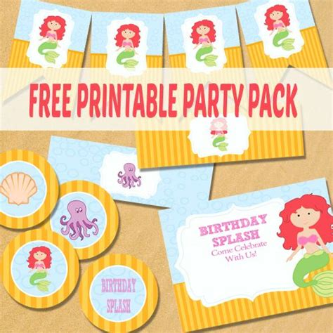 printable mermaid party decorations 17 best images about mermaid birthday on pinterest
