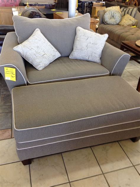 grabbing  big chair  ottoman  relax   long