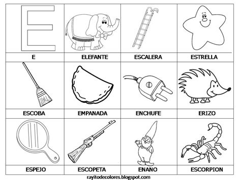 imagenes de palabras que empiezan con e palabras con e imagui