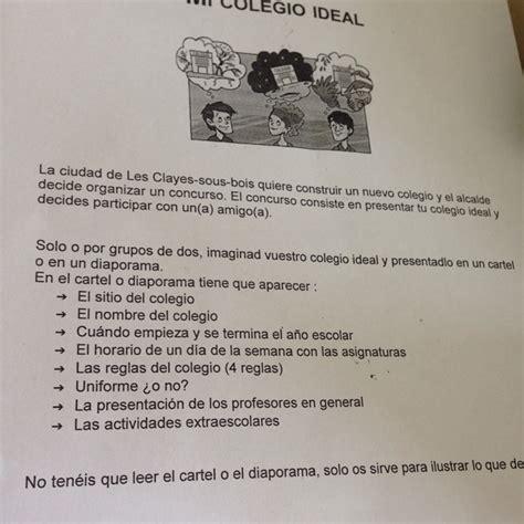 Mon College Ideal Essay by 10 Points A Gagner Faire Un Texte De Mon College Ideal En Espagnol Help Merci D Avance