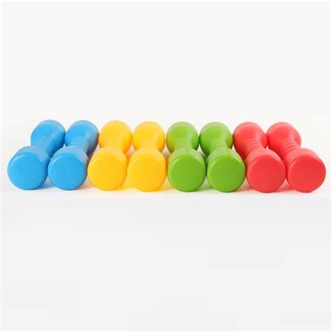 Barbel Warna Children Plastic Toys Dumbbell Fitness Barbel Plastik