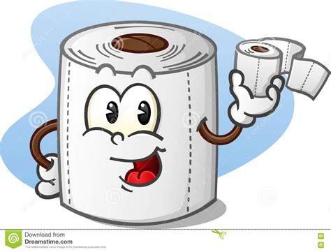 dessin sur papier toilette happy toilet paper cartoon character holding a roll of