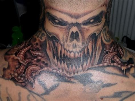 skull neck tattoo designs skull neck tattoos www pixshark images galleries