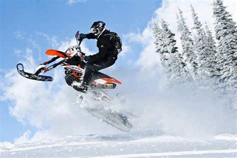 motocross snow bike timbersled snow bike kit dominates snowpocalypse gadizmo com