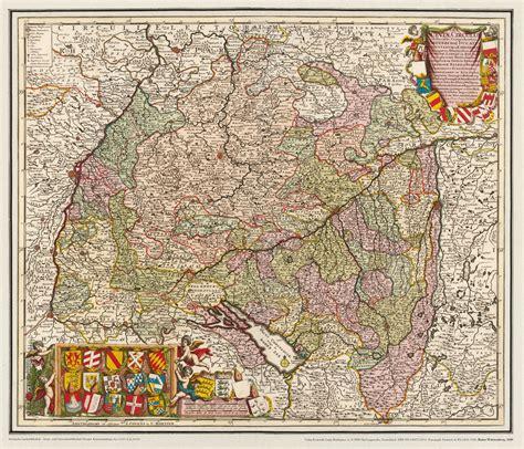 Postkarten Drucken Mannheim by Historische Karte Baden W 252 Rtemberg 1689 Rockstuhl