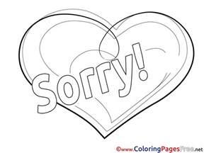 heart printable sorry coloring sheets