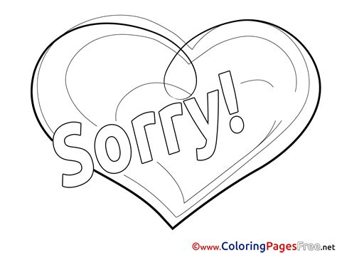 Sorry Coloring Pages im sorry coloring pages az sketch coloring page