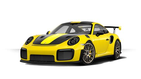yellow porsche 911 2018 porsche 911 gt2 rs configurator launched gtspirit