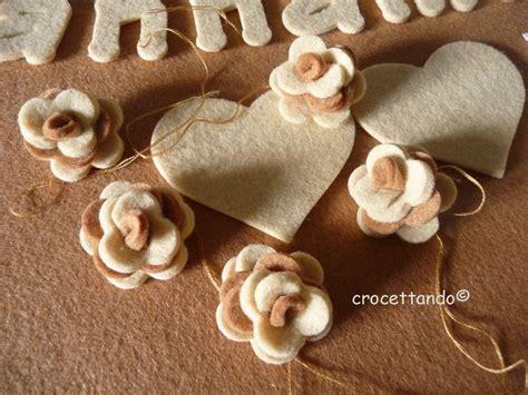 fiori con feltro fiori in feltro bicolori 3d tutorial crocettando