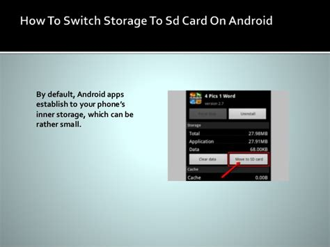 how to switch storage to sd card on android