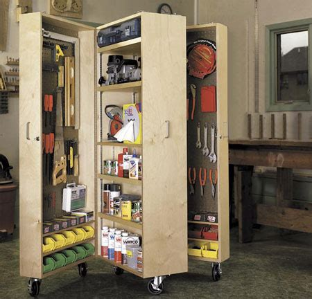 home dzine home diy mobile storage unit for a garage