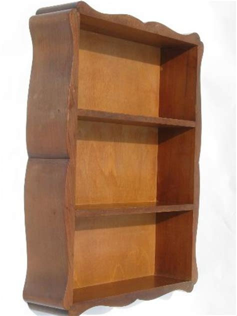 Hanging Box Shelf by Hardwood Wall Box Hanging Shelf Cottage Whatnot Shelves 50s Vintage