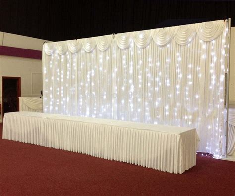 Wedding Backdrop Curtains Pipe And Drape 3 6m Wedding Backdrop Wedding Curtain Backdrop Wedding Drape With Led Light With