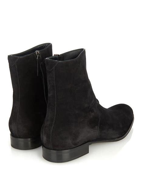 mens suede zip boots handmade suede black boot mens zip up suede dress