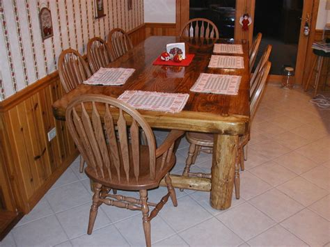 rustic kitchen table by woodman488 lumberjocks com