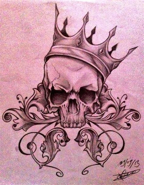 skull with crown tattoo designs crown skull designs