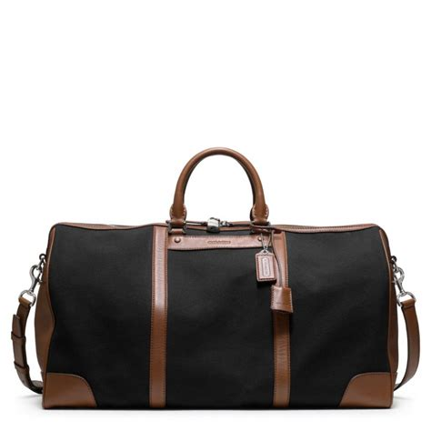 it cabin bag coach bleecker canvas cabin bag in black for lyst