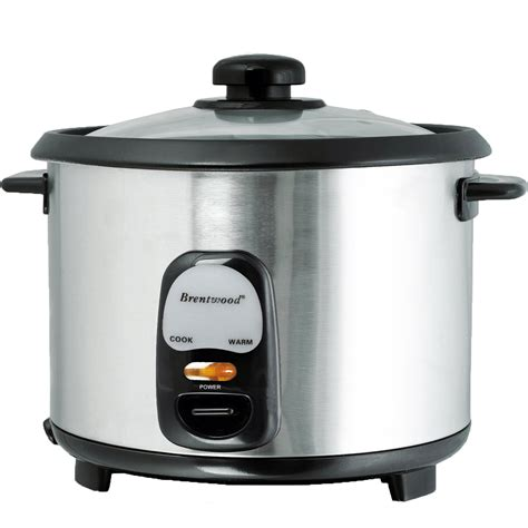 Teflon Rice Cooker brentwood 97083291m 8 cup rice cooker non stick with steamer