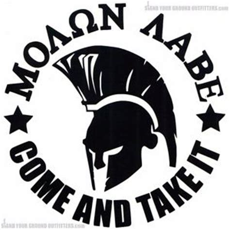 molon labe come and take it ar15 spartan helmet decal
