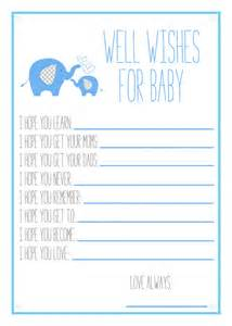 5 best images of free printable wishes for baby boy printable baby shower wishes printable