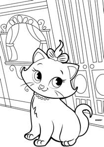the marie cat coloring pages fantasy coloring pages