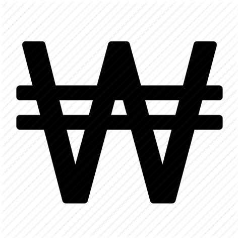currency krw won currency symbol