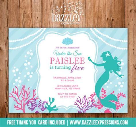 free printable birthday invitations little mermaid printable mermaid birthday invitation under the sea