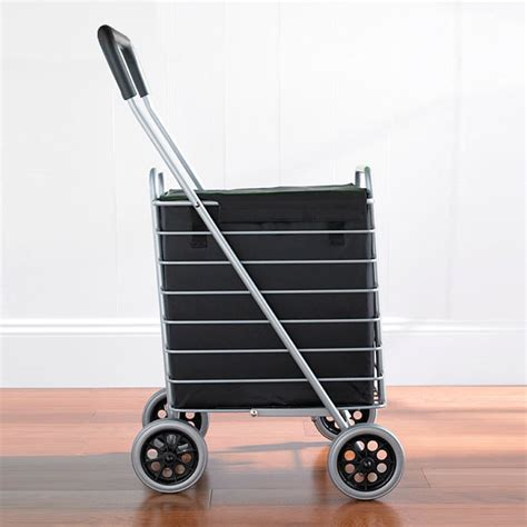 Compact Sit Shopping Cart by Aluminum Shopping Cart Liner The Container Store